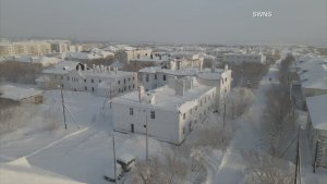Derelict Dominion! Drone Footage Showcases Abandoned Russian Village Covered in Ice!