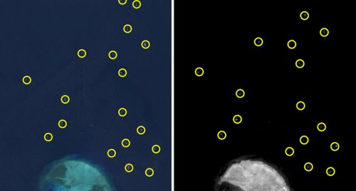 'Poo piling up': Satellite images show shocking sight