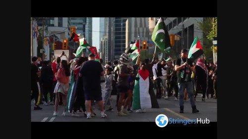Pro-Palestine protests in Toronto, Canada