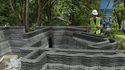 What it looks like to 3D-print a home