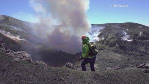 Great Balls of Fire! Climbers Summit the Crater of the Most Active Volcano in Europe!