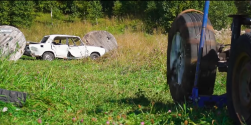 Here's what a 372 MPH tire does to a parked car