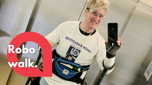 Robo dad raises almost £14,000 for NHS - thanks to £100,000 robotic exo-skeleton suit