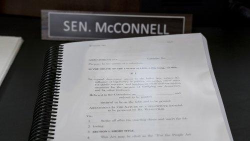 Senate Leaders Debate Election Bill