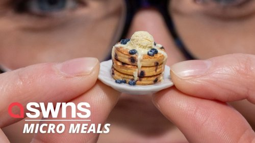 Dollshouse enthusiast creates miniature food dishes - including takeaways and sushi