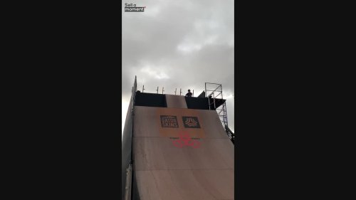 Kid Gets Excited As he Nails a 30 Feet Ramp Jump