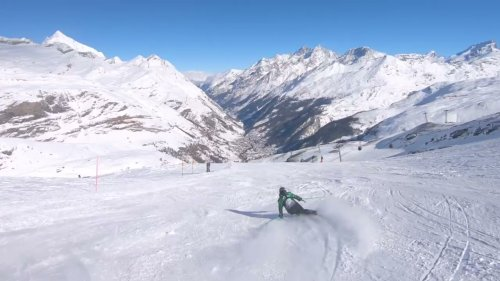 Skier Leaps in Amazing Mountain View