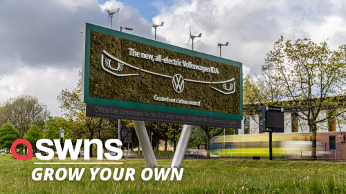 Volkswagen has GROWN its latest advertising billboard which captures carbon dioxide