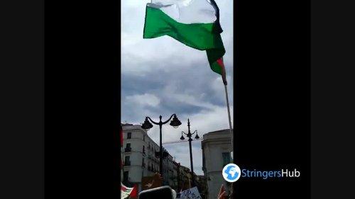 Free Palestine demonstration in Madrid