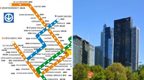 This Map Shows Montreal's Median Condo Price Around Every Metro Station In 2021