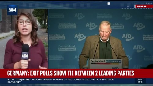 Germany: exit polls show tie between two leading parties