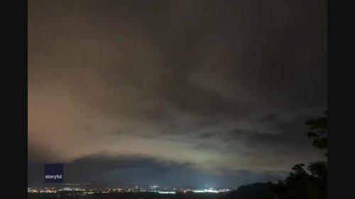 Timelapse Footage Captures Shelf Cloud Flashing Across Wisconsin Sky