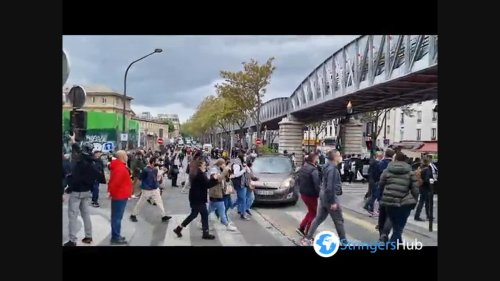 Free Palestine banned protest in Paris, France 2