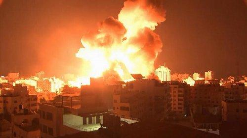 Massive blasts in Gaza City