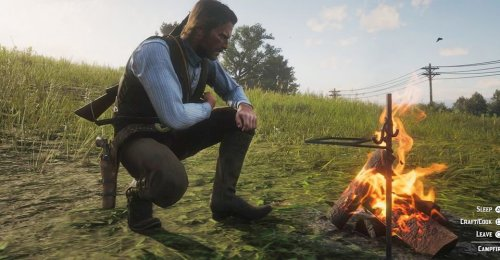 Red Dead Redemption 2 Player Stumbles On Rare Encounter While Camping