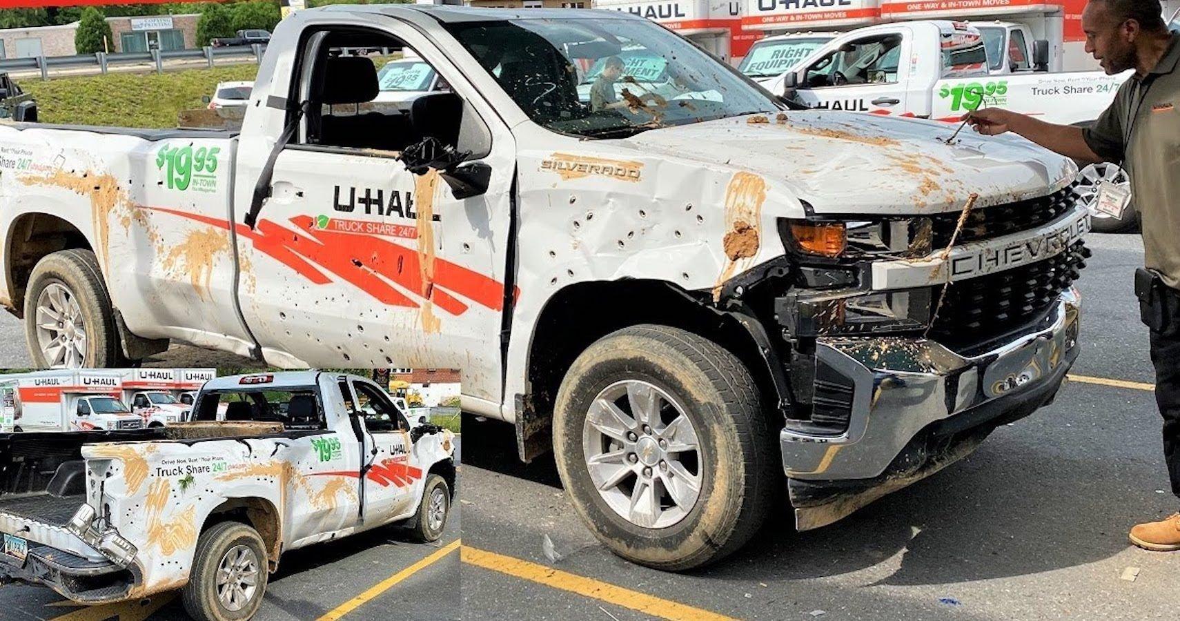 YouTuber Tries To Return Destroyed U-Haul Pickup Truck