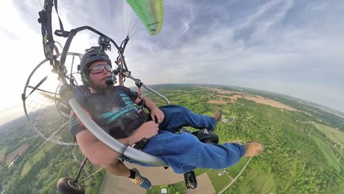 Helping A Veteran Learn To Fly Paramotors