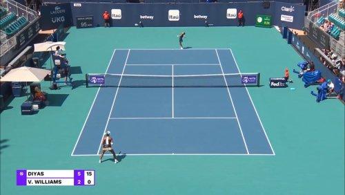 Miami Open Day One Recap: Zarina Diyas Eliminates Venus Williams