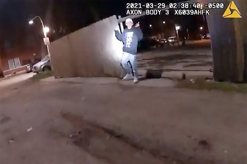 Bodycam video shows Chicago police shooting of 13-year-old Adam Toledo