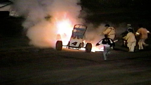 Must See... Sprint Car Busts Into a Ball of Flames