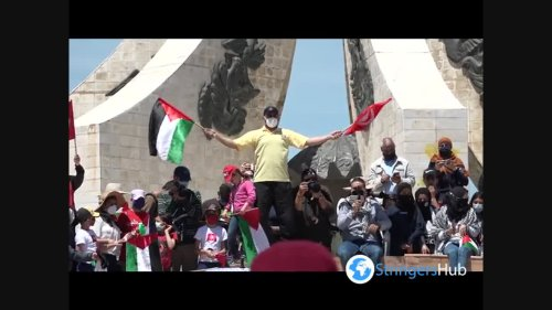 Tunisians rally in support of Palestinians in Jerusalem and Gaza 3