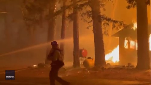 Homes Engulfed by Flames as Dixie Fire Burns in California's Plumas County