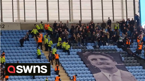 Violence breaks out between Coventry and Derby football fans