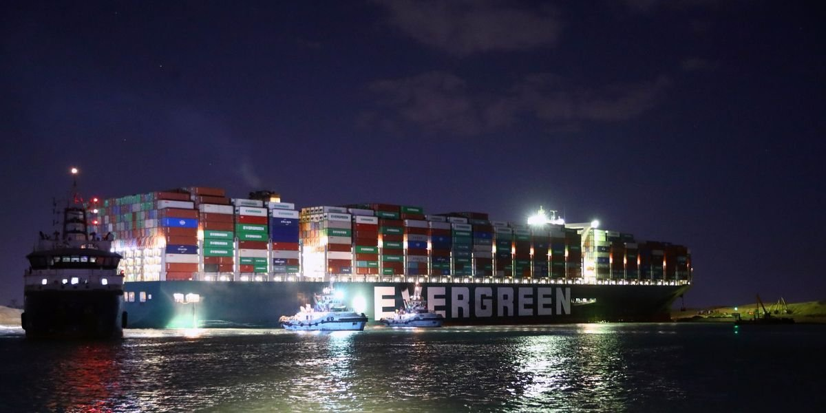 Evergreen Suez Canal Ship, Now Being Held Captive