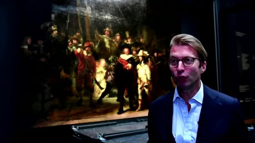 Rembrandt's 'Night Watch' on display restored by AI