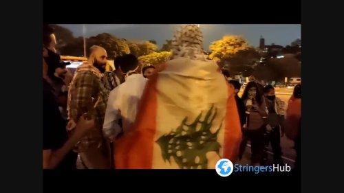 """Free Palestine"" Protest in São Paulo, Brazil 2"