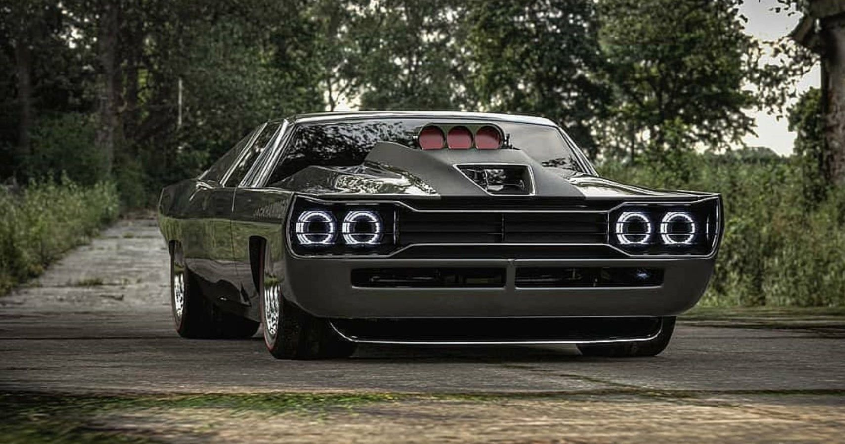 Jackhammer Muscle Car Blends Plymouth GTX And Dodge Charger Into A Striking Ride