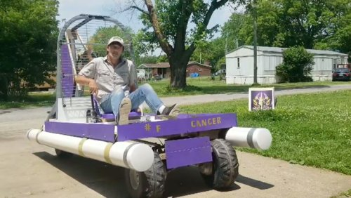9 Year Pancreatic Cancer Survivor Celebrates By Building Custom Airboat