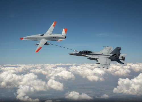 A drone and fighter jet just made 'wet contact' for the first time ever