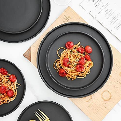 Trendy 32-piece coupe dinnerware set