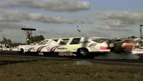 Check Out This Limo Dragster With a Jet Engine