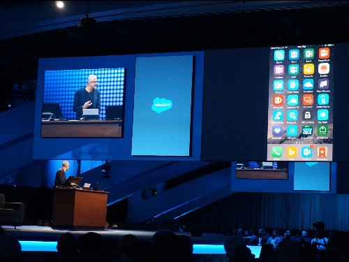 Microsoft CEO Satya Nadella just used an iPhone to demo Outlook