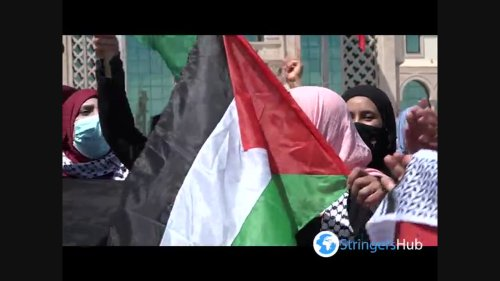 Tunisians rally in support of Palestinians in Jerusalem and Gaza 2