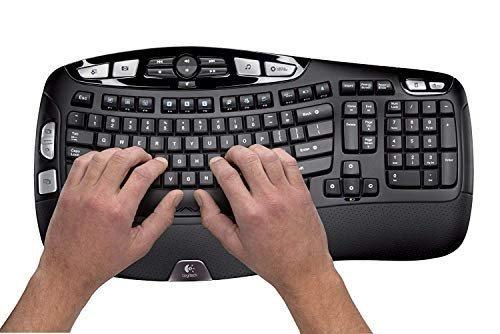 Wireless ergonomic wave keyboard & mouse