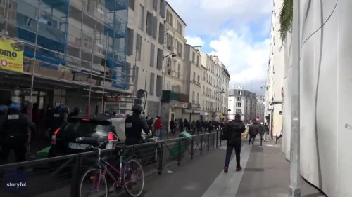 Police Clash With Pro-Palestine Protesters in Paris