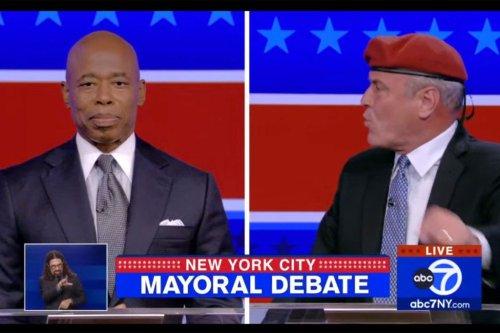 Eric Adams, Curtis Sliwa have series of heated exchanges during mayoral debate
