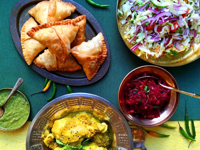Try tonight: vegetarian samosas with potatoes and peas