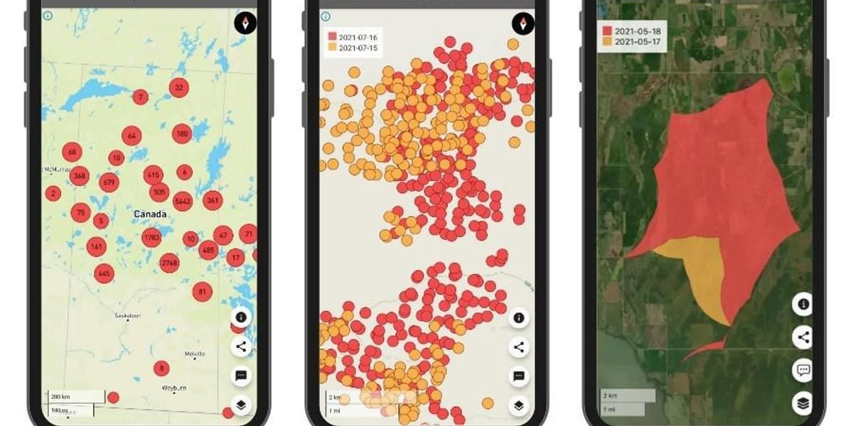 You Can Track All The Wildfires Raging Through Northern Ontario Using This App