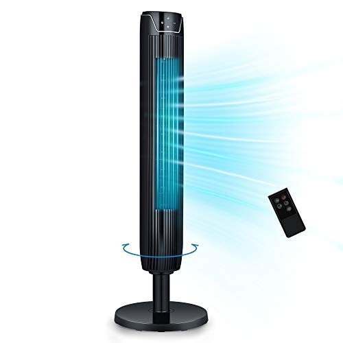 Oscillating tower fan with built-in timer