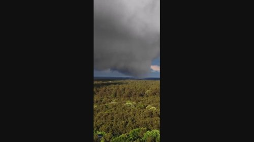 Drone Captures Huge Swirling Cloud Formation in Louisiana