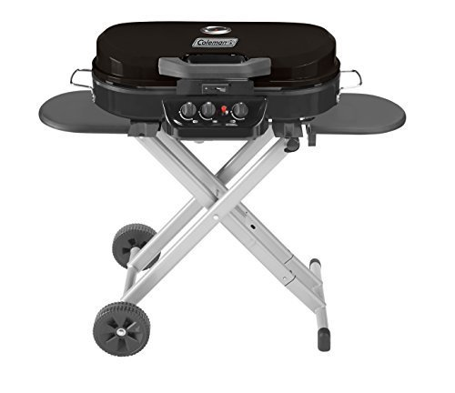 Use a Coleman portable grill when traveling