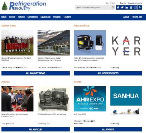 Refrigeration industry cover image