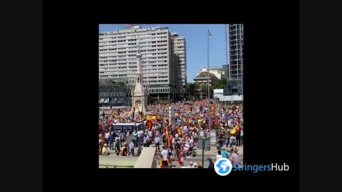 Spain: Thousands rally against Catalan pardons in Madrid