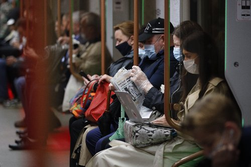 The Latest: Virus infections are rising sharply in Moscow