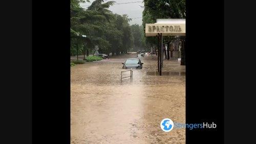 Heavy Rains in Crimea Trigger Floods in Yalta