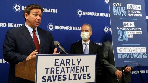Gov. Ron DeSantis touts monoclonal antibody treatments for COVID-19, criticizes President Biden